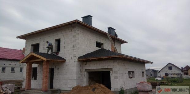 Строительство двухэтажного дома из газосиликатных блоков
