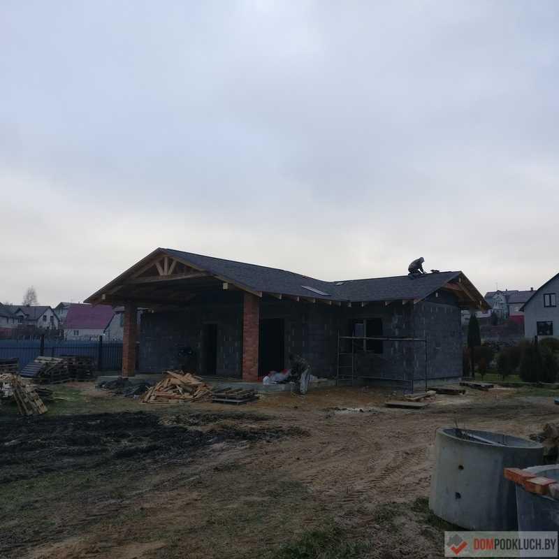 Гостевой одноэтажный дом из керамзитобетона