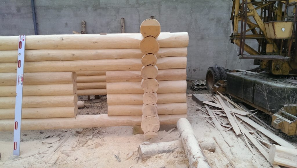 Строительство бани из брева