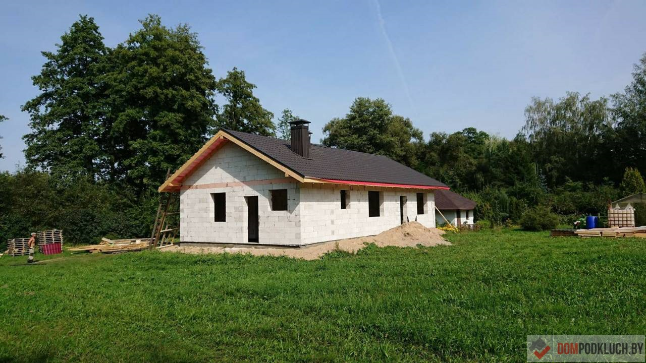 Одноэтажный дом из газосиликата для постоянного проживания