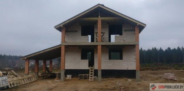 Дом из пеноблоков с террасой
