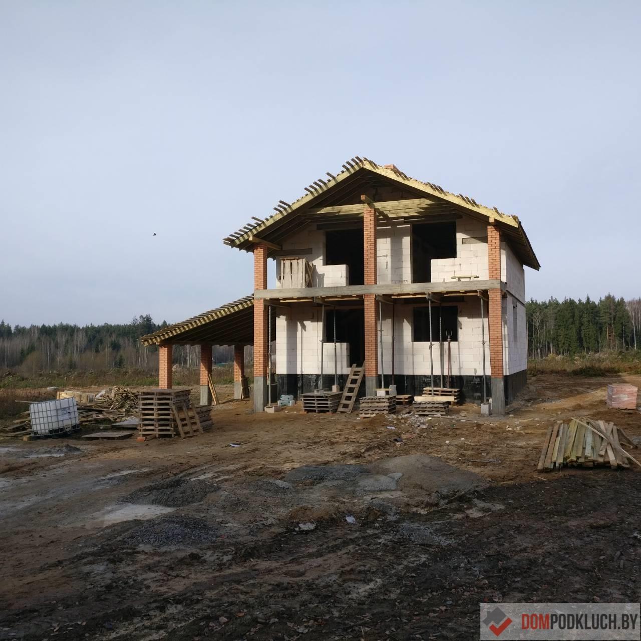Строительство двухэтажного дома из пеноблоков