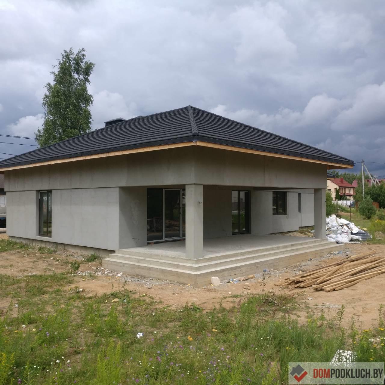 Одноэтажный дом из газобетонных блоков