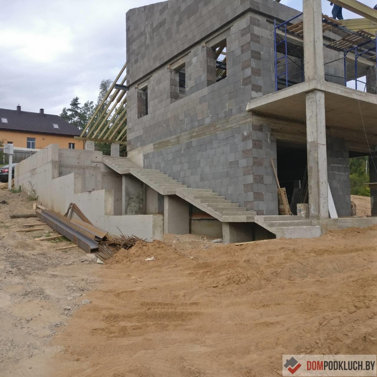 Пример строительства дома по индивидуальному проекту