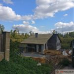 Строительство двухэтажного дома с изготовлением подпорных стен